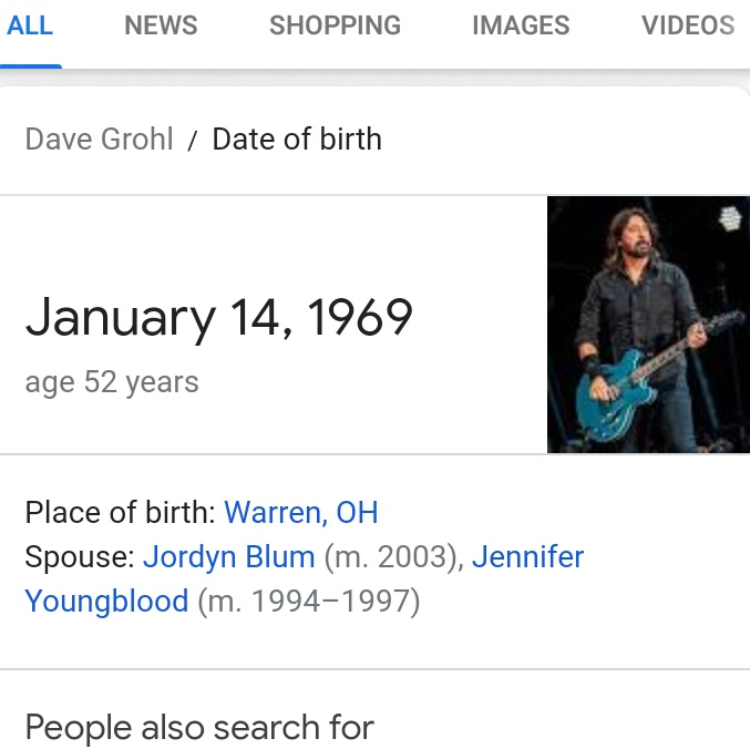 Happy 53rd birthday, Dave Grohl!