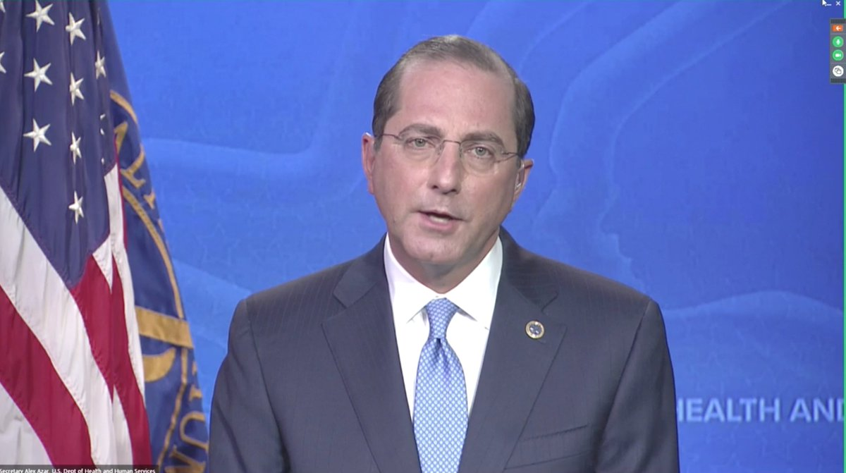 """Remarkable (appalling) spin on #COVID failure by @SecAzar: """"If a novel virus like this emerged in a Democratic nation, this epidemic would have never happened""""  Trump admin practices """"radical transparency""""  In February """"no immediate threat""""   CDC thrown under bus. https://t.co/vomxm4r6Vo https://t.co/y18kBtNREp"""