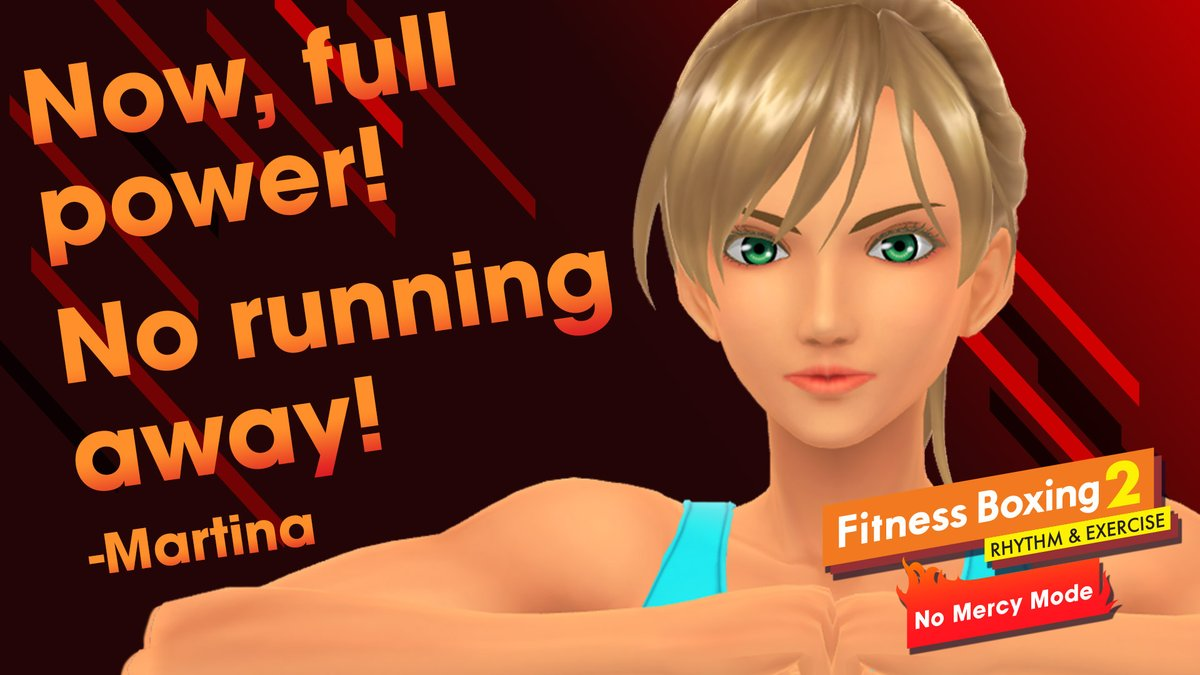 New year, new you, new challenge! Turn up the heat with #FitnessBoxing2's free No Mercy DLC. This intense workout will have your trainers push you past that plateau. Don't worry, you can change back!  🥊Vol. 3 feat. Martina, Janice, & Sophie available now: