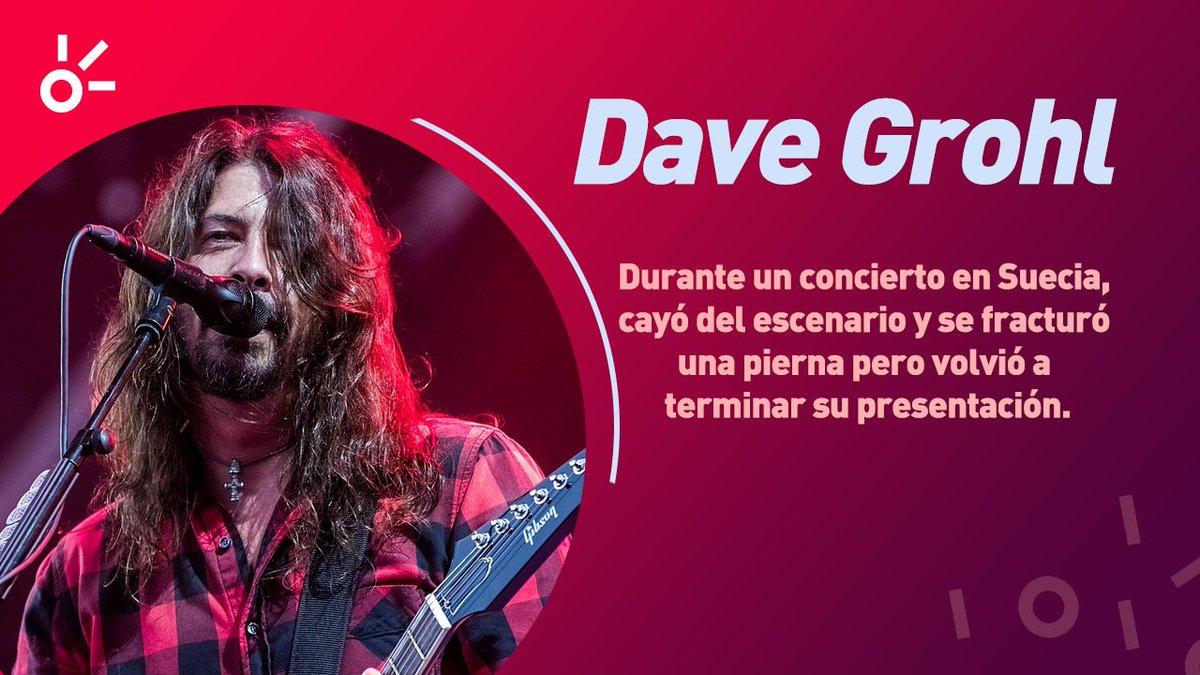 🎸El gran #DaveGrohl es tan profesional que tocó un concierto con la pierna rota, ¡celébralo con nosotros hoy en su cumpleaños 52! 🎂🎉Escucha a @foofighters aquí:  🎧