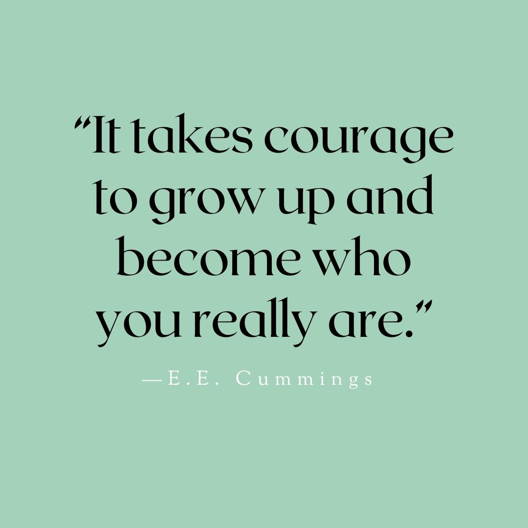 """E.E.Cummings said """"It takes courage to grow up and become who you really are."""" The time has come for you to show off who you truly are and stand proud.  #courage #growth #trueself #quote #motivational #postitive #beyourself https://t.co/n4N9nYotlO"""