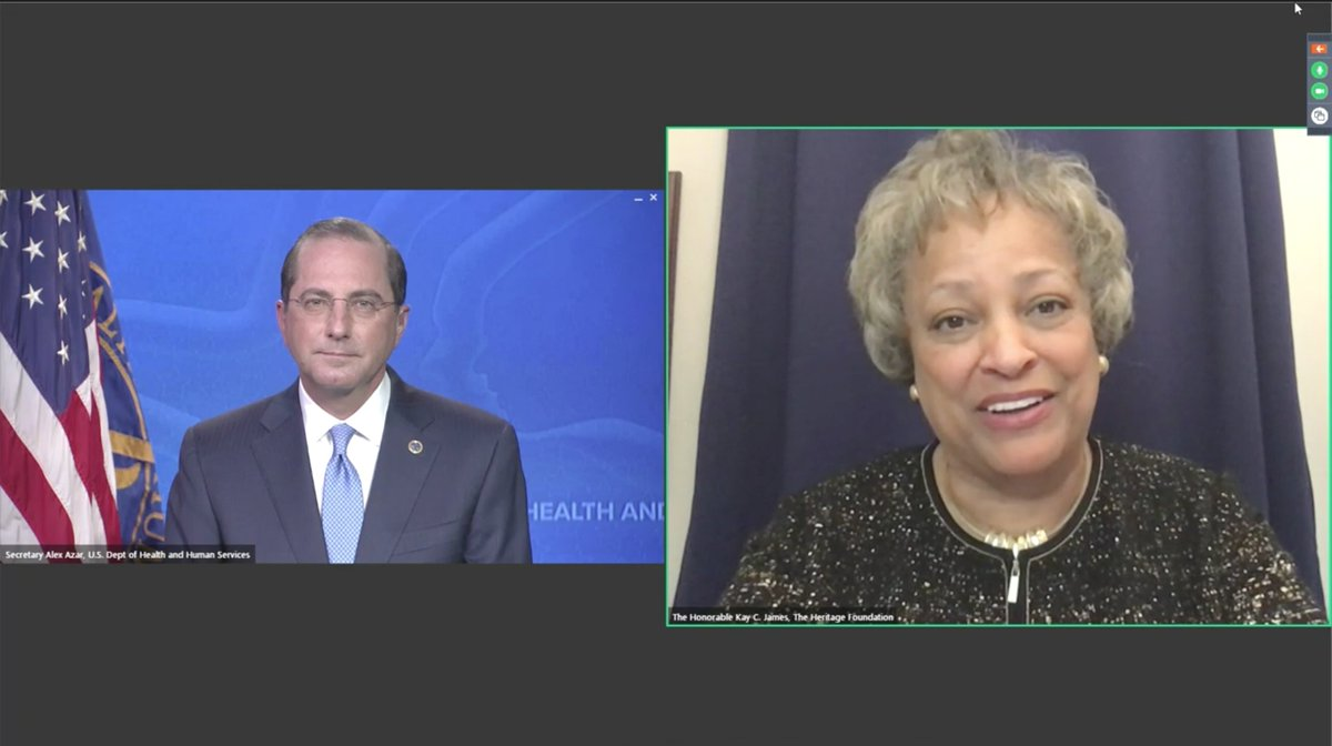 """@KayColesJames @Heritage says that Sec Azar leaves a """"wonderful legacy""""--a breathtaking assessment of what is objectively the world's clearest and largest failure to respond effectively to #COVID19 https://t.co/BdO7KgHXHa"""