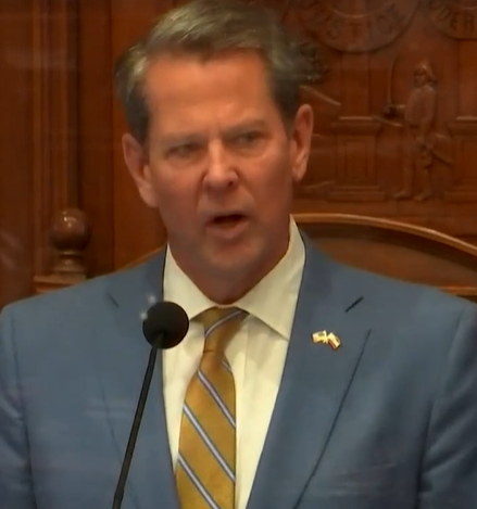 """Governor Brian Kemp promises reform when talking about the death of Ahmaud Arbery during Kemp's State of the State address. #gapol #GPBLawmakers  """"That's why my administration plans to introduce significant reforms to our state's citizen's arrest statute."""""""