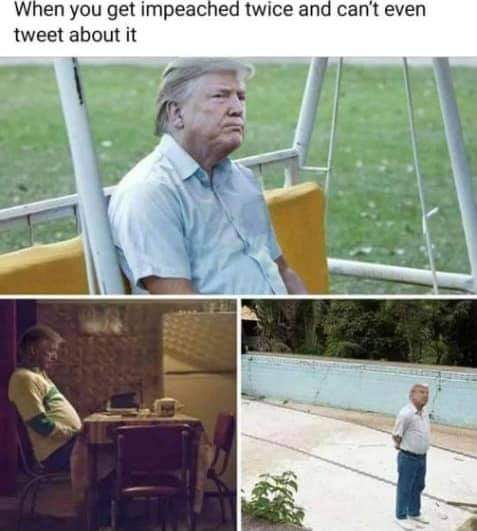 I would tag him but hes not on Twitter anymore 🤣🤣🤣 #TrumpIsALaughingStock #ImpeachedTwice #ImpeachTrump #AmericaFirst #AmericaOrTrump