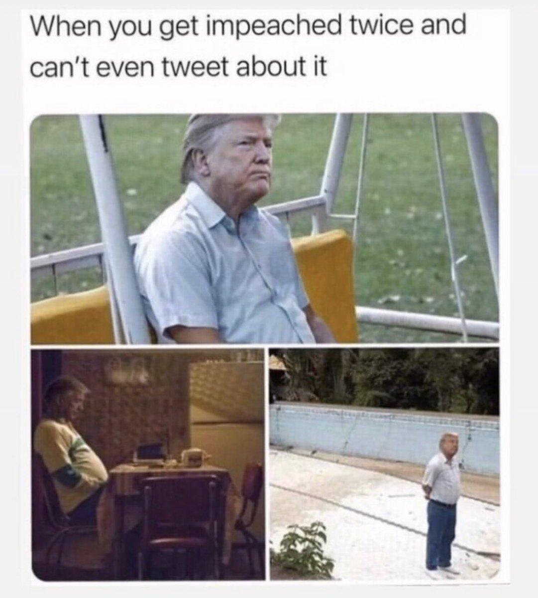 😂 #ImpeachedTwice #Trump #ImpeachmentDay #ImpeachTrump