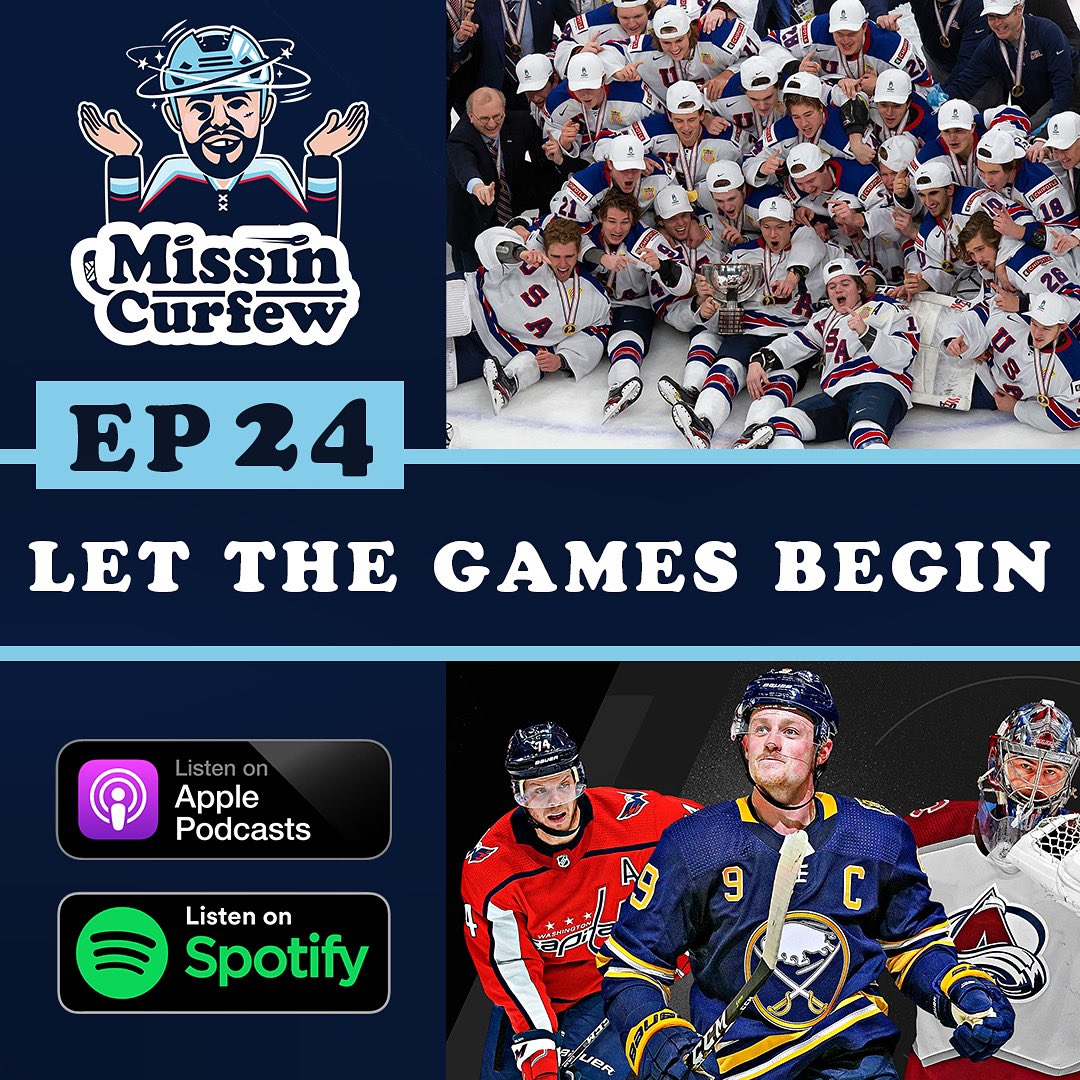 """🚨@MissinCurfew Ep 24. """"Let The Games Begin"""" is now available🚨  🎧➡️:   World Junior chatter, breaking down Gary Bettman's presser, COVID, no fans, how are the players going to deal with it, the boys dive into all 4 Divisions and much more!!"""