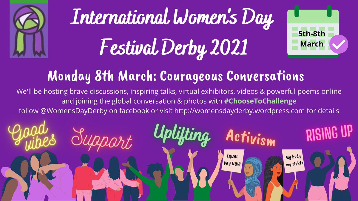 International Women's Day #Derby Monday 8th March  Book your virtual stall to add your facebook page to the trail at:   @DerbyHomes @derbymuseums @LivewellDerby @DerbyCA @DerbyLibraries @DerbyCC @ThisGirlCanUK @Activderby @DCHStrust @HealthwatchDby