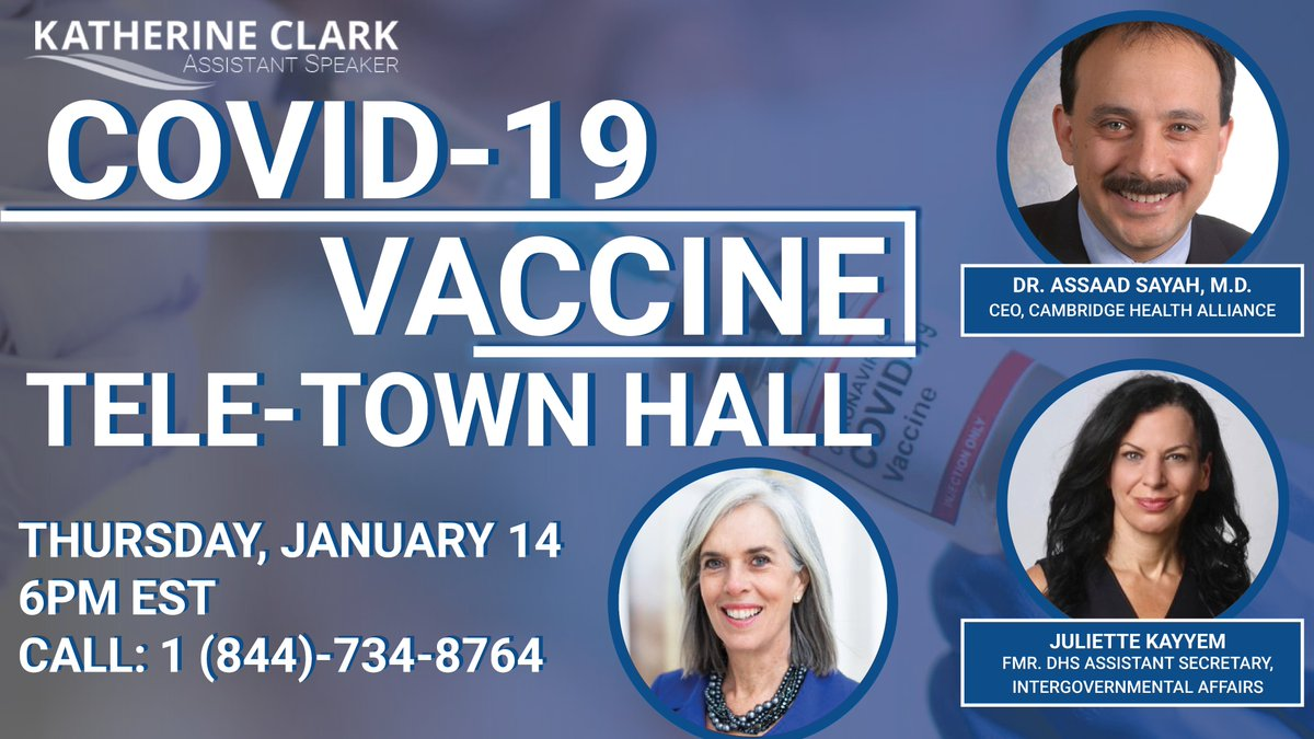 TODAY @ 6PM: I'm hosting a Tele-Town Hall to answer your #COVID19 vaccine development and distribution questions. The dial-in number is below. Submit your questions ahead here: