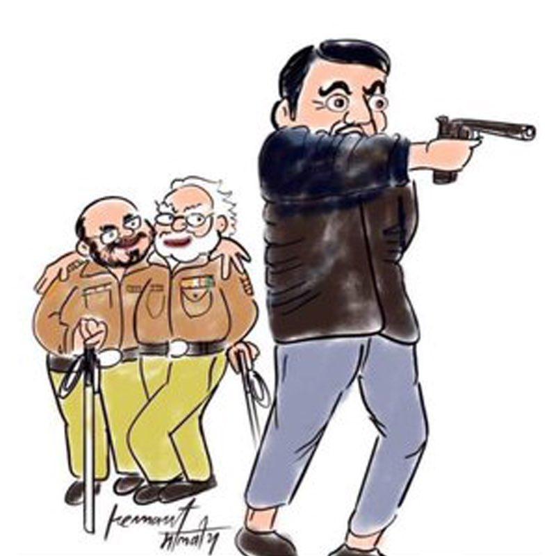 """@TimesNow @VijayadharaniM @thenewshour @khushsundar क्यूँकि :  #भाजपा👺 की राजनीति चलती है यह बता कर के हिंदू """"खतरे"""" में है। वारिस भाई की राजनीति चलती है कि मुस्लिम """"खतरे"""" में है।   इन दोनों के राजनीति से देश खतरे में है: @Pawankhera   So Nation🇮🇳needs #Centrimism ✌🏼"""