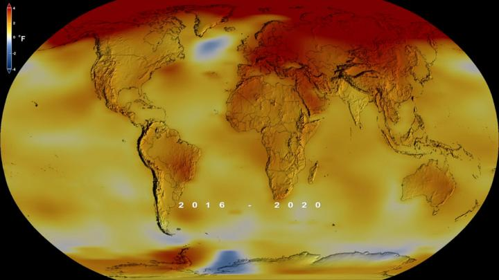 Earth's global average surface temperature in 2020 tied with 2016 as the warmest year on record, according to an analysis by scientists at @NASAGISS: