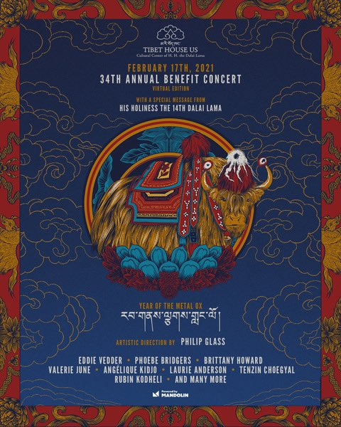 Excited to announce that I will perform at the @tibethouseus virtual #TibetBenefit2021 Concert on 2/17. Get your tix now!