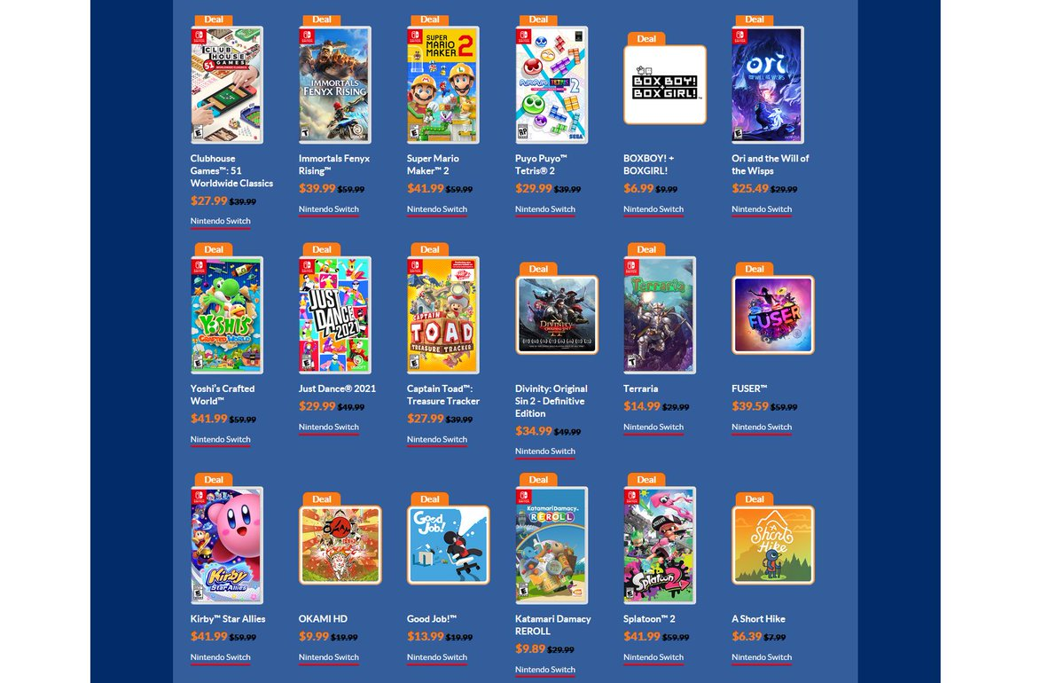 New Year Sale via eShop prices are shown now.