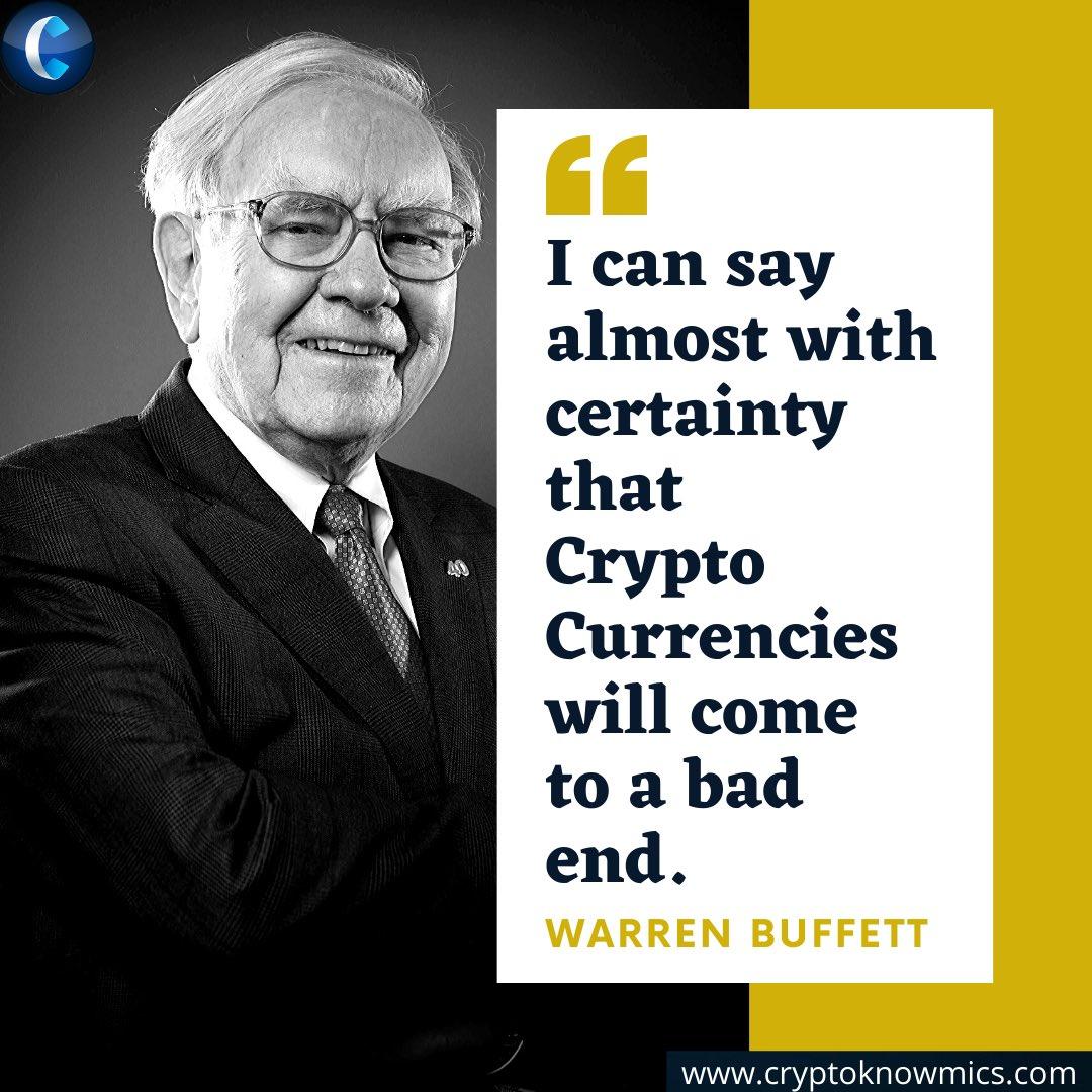 Said by the man himself! #bitcoin #WarrenBuffett #investing #thursdayvibes #cornwall #ThursdayMotivation