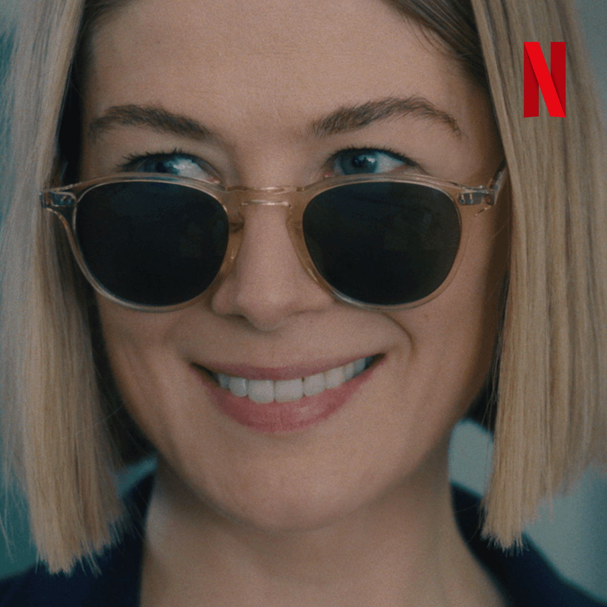 Gays, grifters, and gay grifters: meet Marla Grayson.  Rosamund Pike, Peter Dinklage, Eiza González, Chris Messina, Isiah Whitlock Jr., and Dianne Wiest star in the twisted satire I CARE A LOT, coming to Netflix Feb 19.