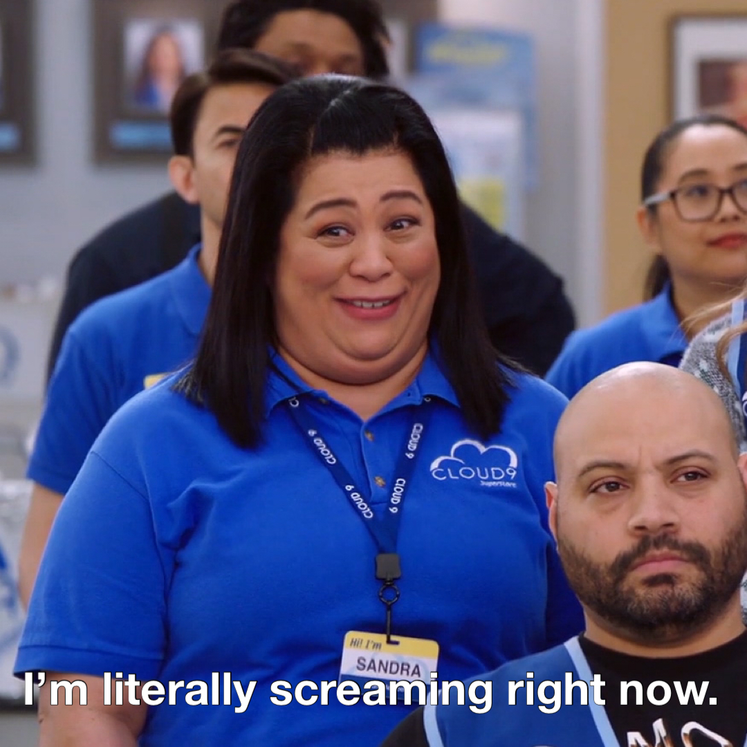 What Sandra said.  #Superstore is BACK tonight at 8:30/7:30c on NBC.