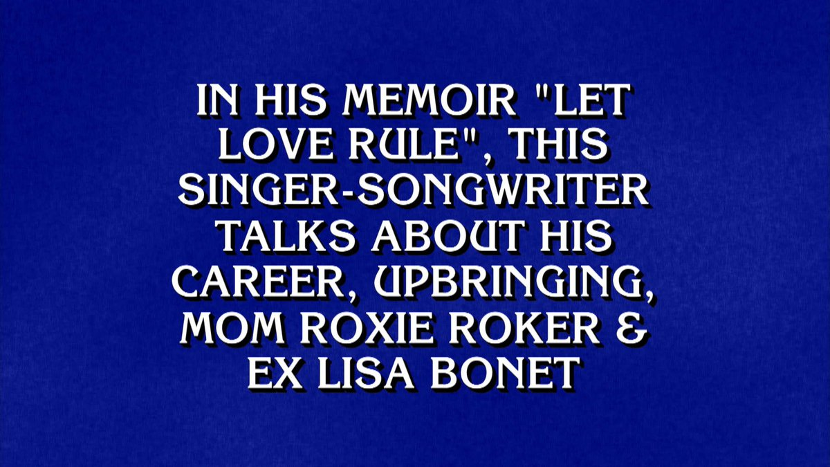 Replying to @LennyKravitz: Last night on @Jeopardy! Who Is... #Jeopardy