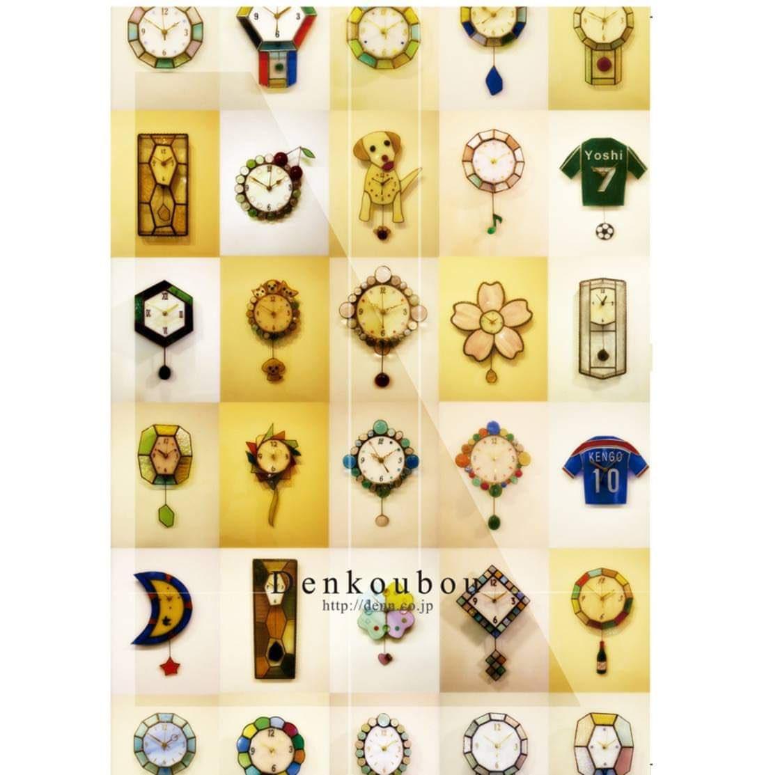 パンフレットデザイン  ステンドグラスで創る時計。 オリジナルで作られる一つ一つ特別な作品、様々な色と形のステンドグラス。  パンフレットの表紙  #Design #pamphlet #leaflet #graphic #デザイン #パンフレット #リーフレット #グラフィック #広告