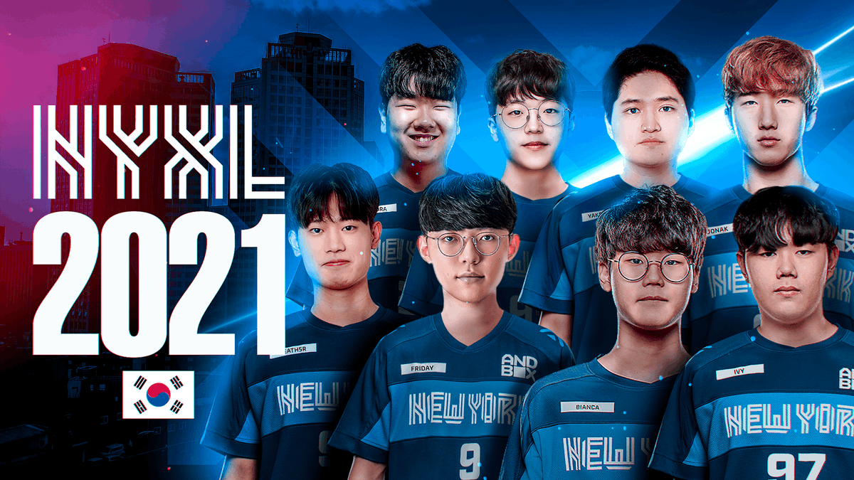 NYXL - Excited to announce that NYXL will be competing in the East Region for the 2021 Overwatch League season. The team is focused and training hard in our facility in South Korea. No matter where we are, we will always represent New York proudly. #EverUpward