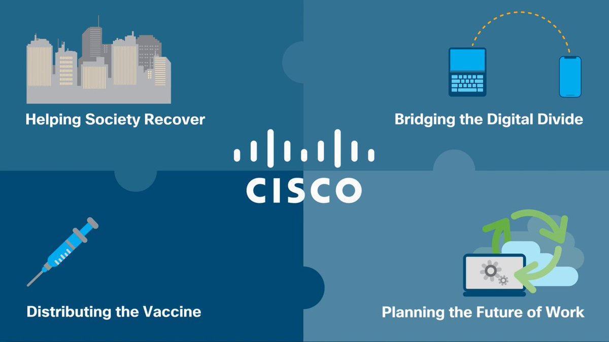 """""""At Cisco, helping out during a crisis is in our DNA."""" - SVP @TaeYooCSR  Learn how we're supporting an inclusive recovery using technology and expertise:"""