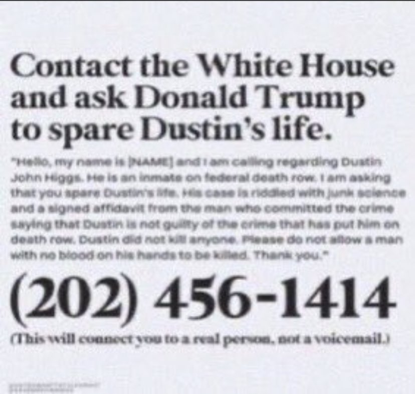 WE ALL HAVE A PLATFORM AND WE CAN ALL USE IT. PLEASE SIGN AND SHARE INFORMATION ABOUT DUSTIN HIGGS AND COREY JOHNSON !!!! #SaveCoreyJohnson #SaveDustinHiggs
