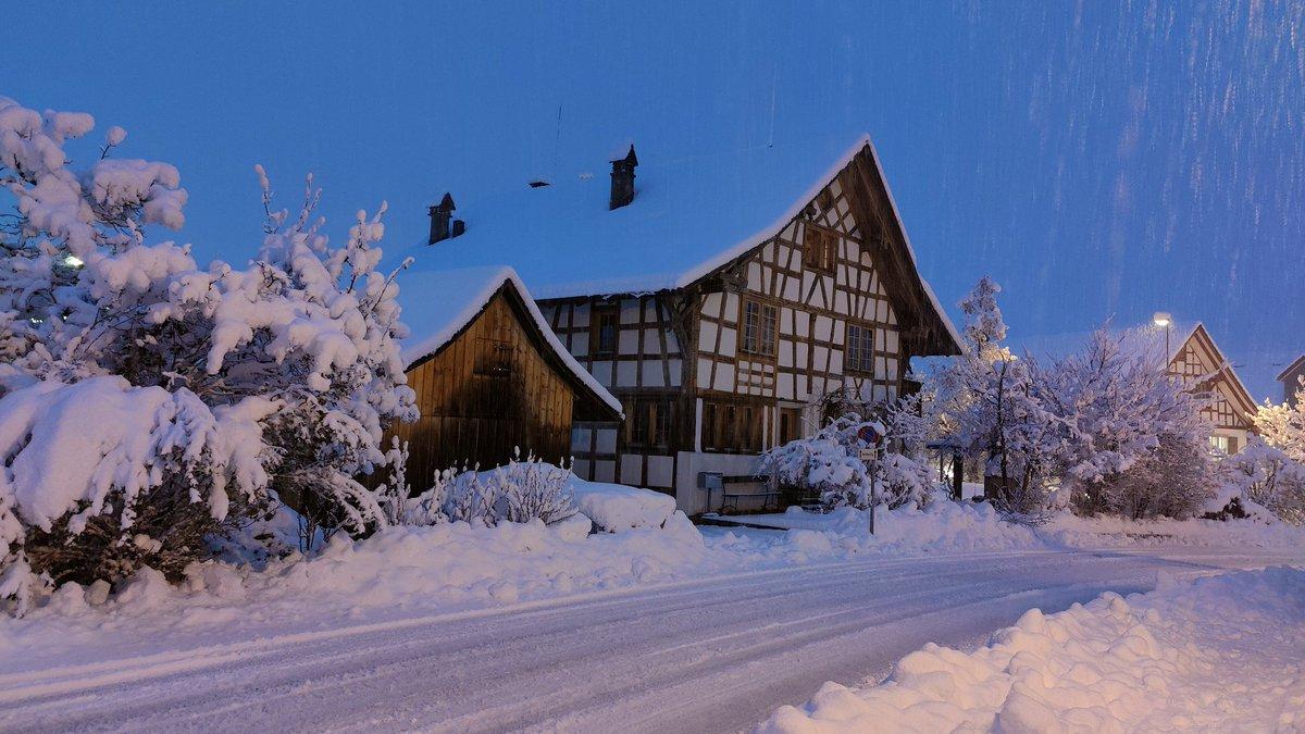 A serious blizzard has covered #Switzerland with that white and fluffy stuff - and we're loving it! 🌨 ❄ 🇨🇭  #InLoveWithSwitzerland #Schneefall #WinterWonderland für @Frau_W