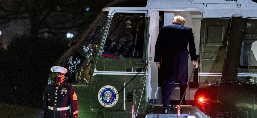 SCOOP: The Pentagon will not host a traditional Armed Forces Farewell tribute to President Donald Trump; first time since Ronald Reagan. It's a shame, but not a surprise. //  Pentagon Won't Throw Traditional Farewell Ceremony for Trump  @DefenseOne