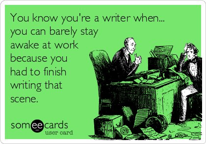 You know you're a #writer, when...  You can barely stay awake cos your #muse decided to get chatty just as you were abt to fall asleep...  And tho you REFUSED to get out of bed, you dreamt all night abt clever #plot-twists (none of which you recall!)  #amwriting #writing #Writers https://t.co/Z9XFWmBcdk