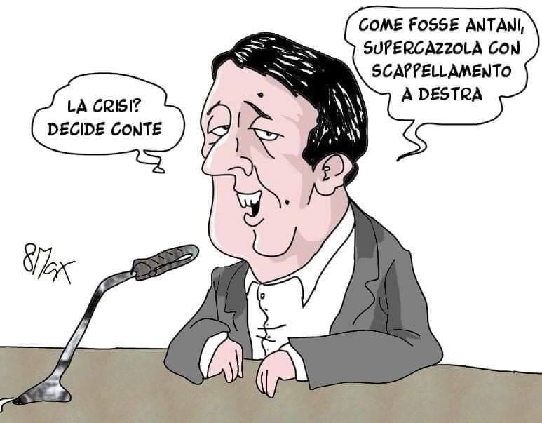 Quanto ai contenuti delle sue motivazioni, Massimo Ottavi, in arte 8Max, ne offre un'ampia disamina  #crisidigoverno  #Renzi  #vignettistiperlacostituzione 🇮🇹