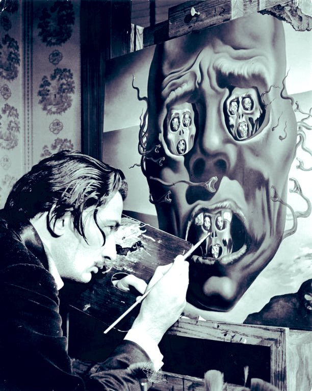 "Replying to @EvanKirstel: ""I don't do drugs I am drugs"" Dalí painting The Face of War, 1941 #ThrowbackThursday #thursdayvibes"