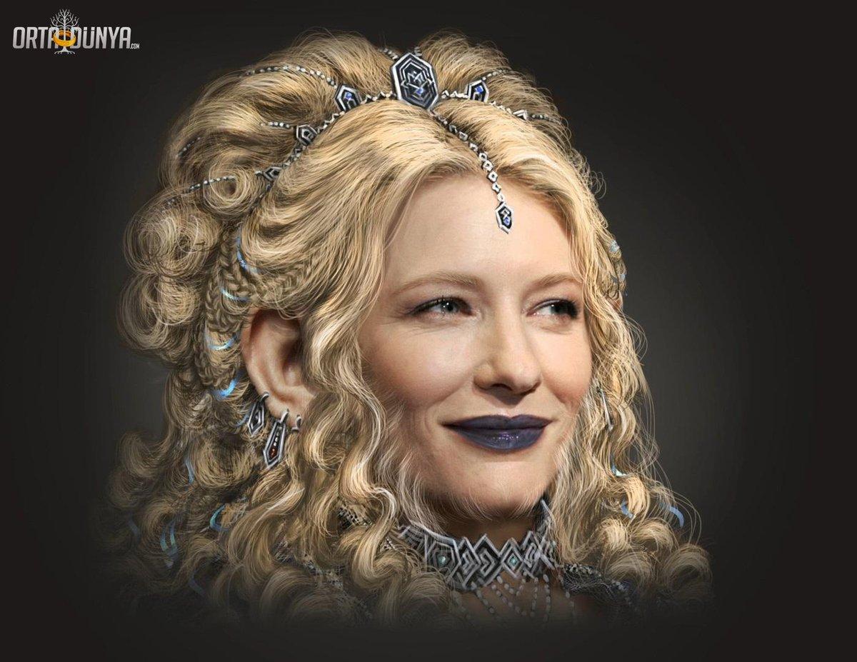 Cate Blanchett, Hobbit'in çekimleri esnasında cüce kadınlarının tasarımından etkileniyor ve WETA Atölyesi'ndeki bir sanatçıdan kendisi için de bir tasarım rica ediyor.