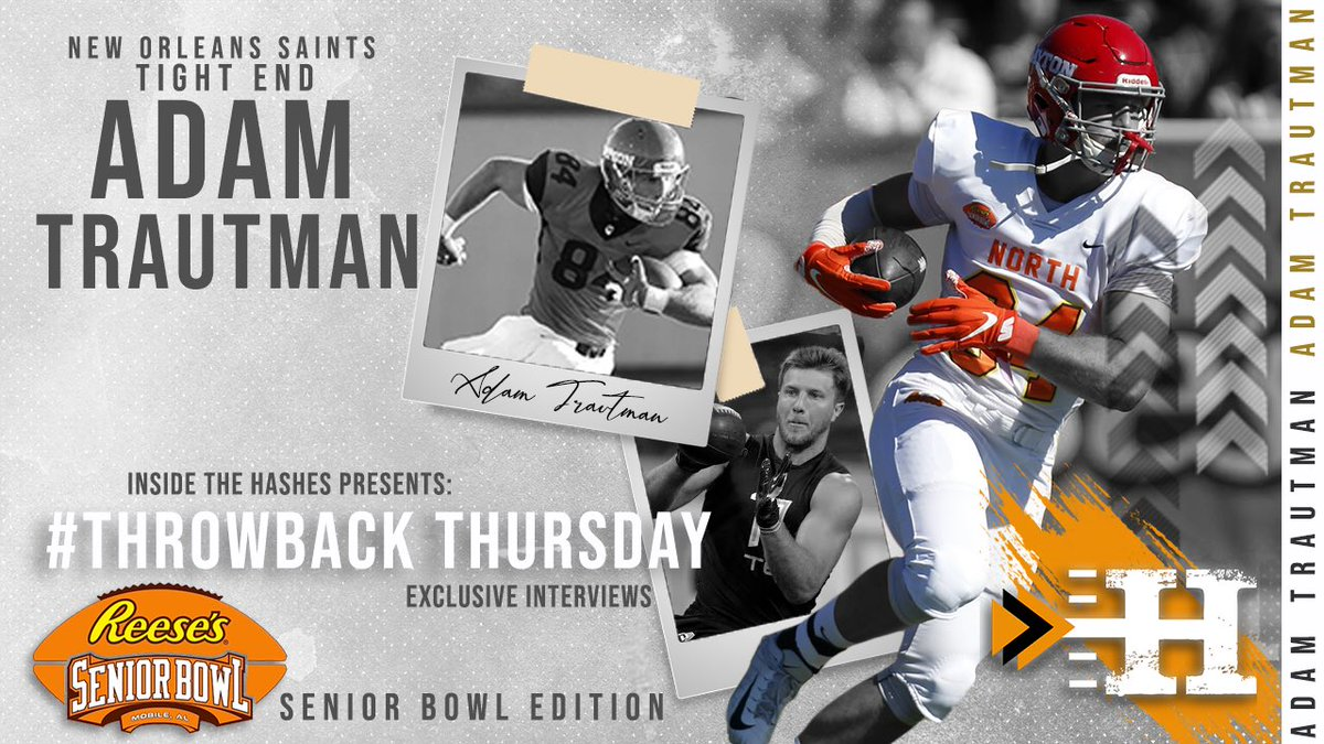 Kicking off NFL Divisional Round Weekend with an ITH #ThrowbackThursday video featuring @Saints TE Adam Trautman!  Watch Here:  Listen to the Full Interview Here:  By: @GuarinCamargo and @racheldarata  #WhoDat #Saints #NFL