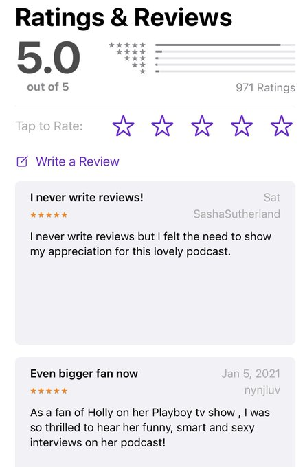 #hollyrandallunfiltered is still holding strong at 5 out of 5 stars and almost 1,000 reviews! Download