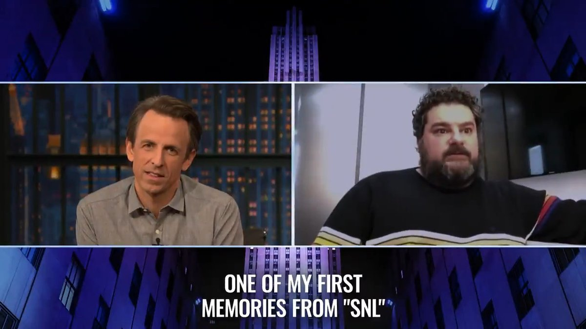 #MrMayor's @bibbymoynihan reflects on his first memories of @nbcsnl with @SethMeyers.