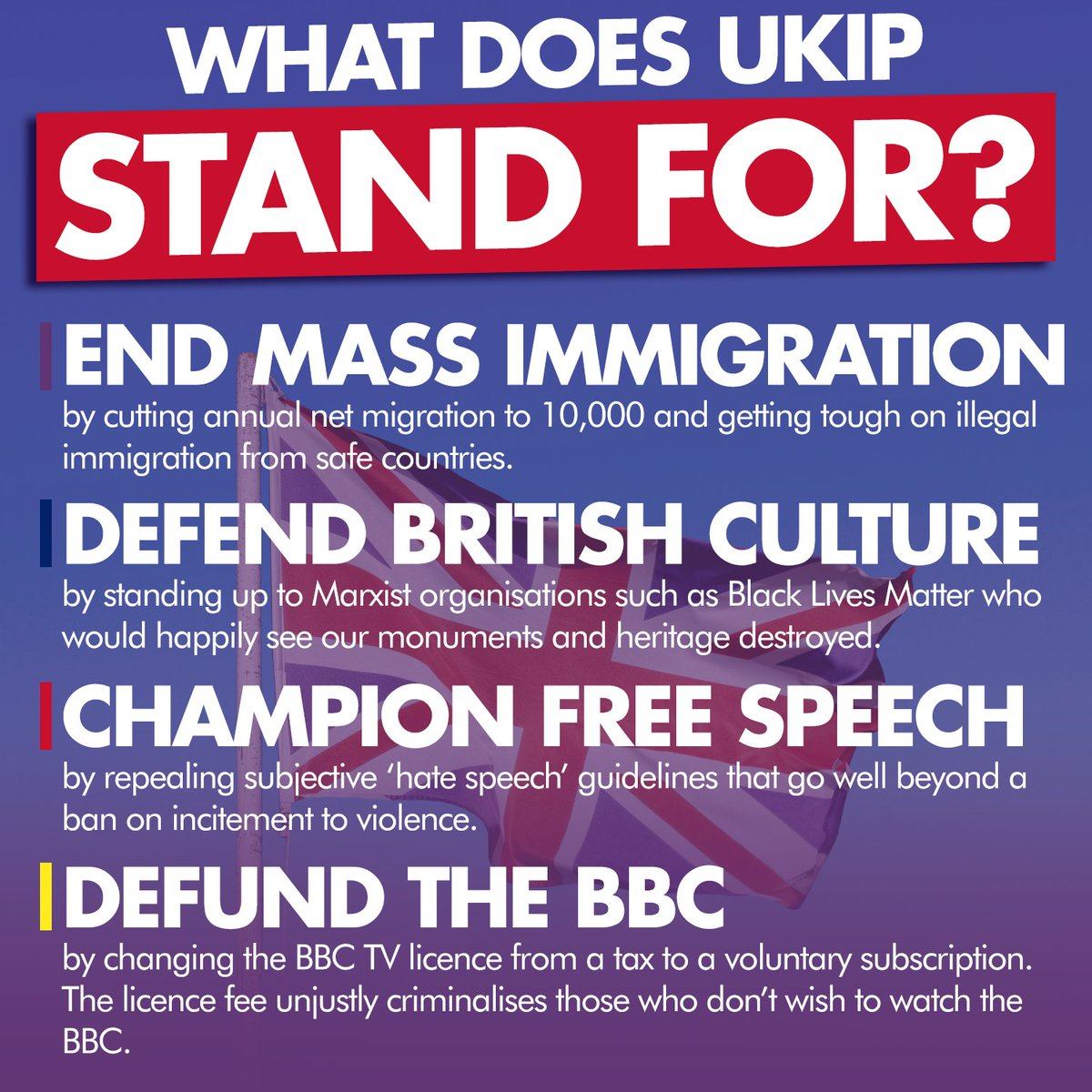 ✍️ Brexit was only the beginning. #UKIP has a range of common sense policies addressing issues that the Establishment are scared of.  With membership starting from as low as £2, there has never been a better time to join UKIP and stand up for Britain ➡️