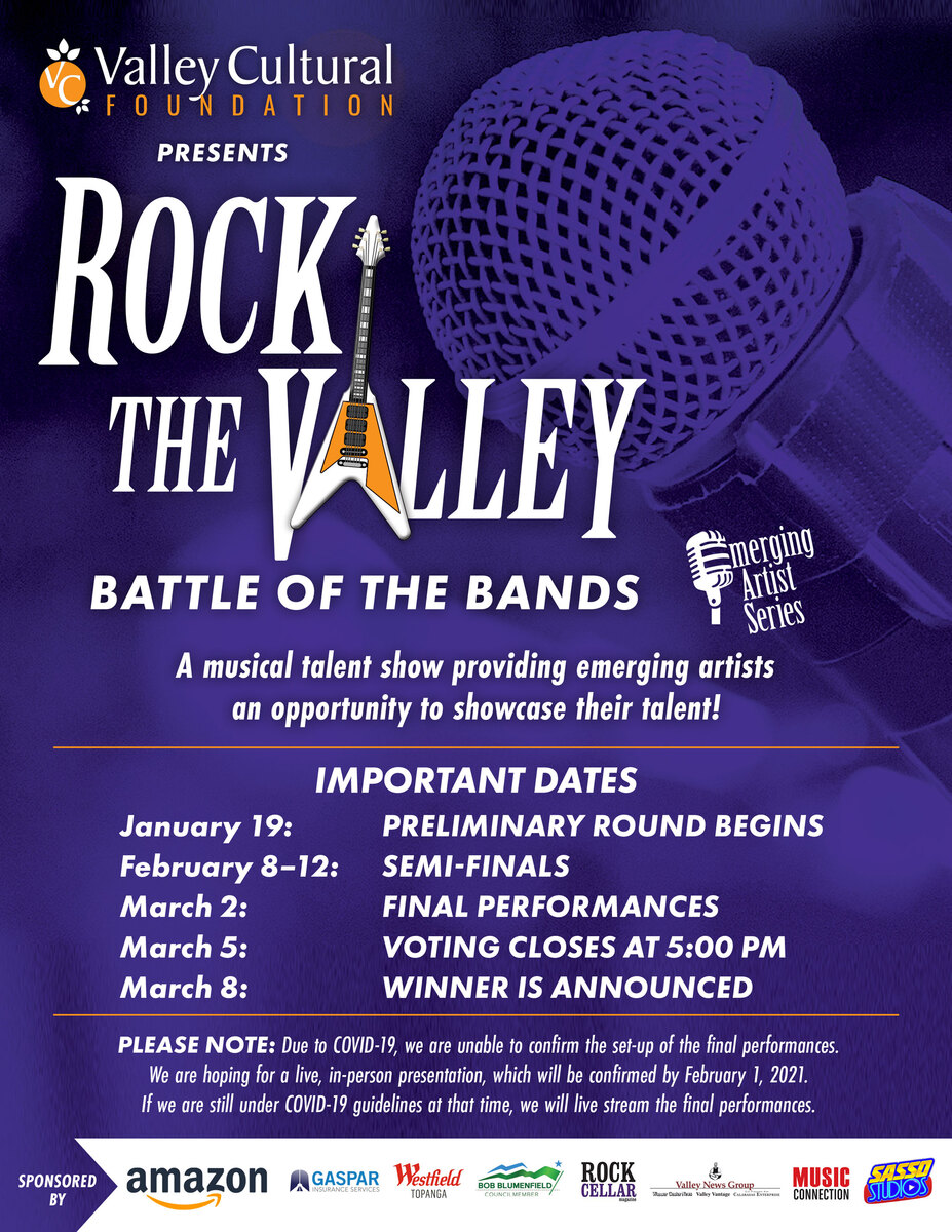 LESS THAN A WEEK LEFT! Set your calendars, #RockTheValley voting starts Monday! Don't miss out on these epic #bands!  #music #concert #LosAngeles #OnlineConcert #local #artists #nonprofit #LiveBand #NewMusic #UpAndComingArtist #EmergingArtist #VirtualConcert #OnlineEvent