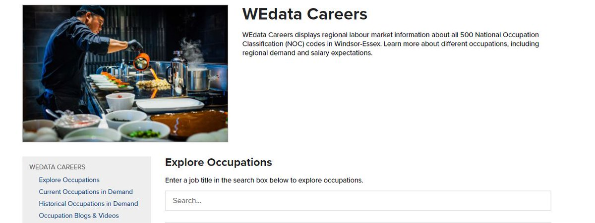 #MondayMotivation Check out @WorkforceWE WEdata Careers which displays regional labour market information about all 500 National Occupation Classification (NOC) codes in #WindsorEssex Learn more  @WEEGcommittee