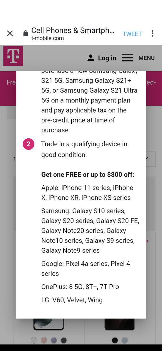 @TMobile has some amazing trade in deals for the #samsungs21series. Check out the value you get for some of these devices.