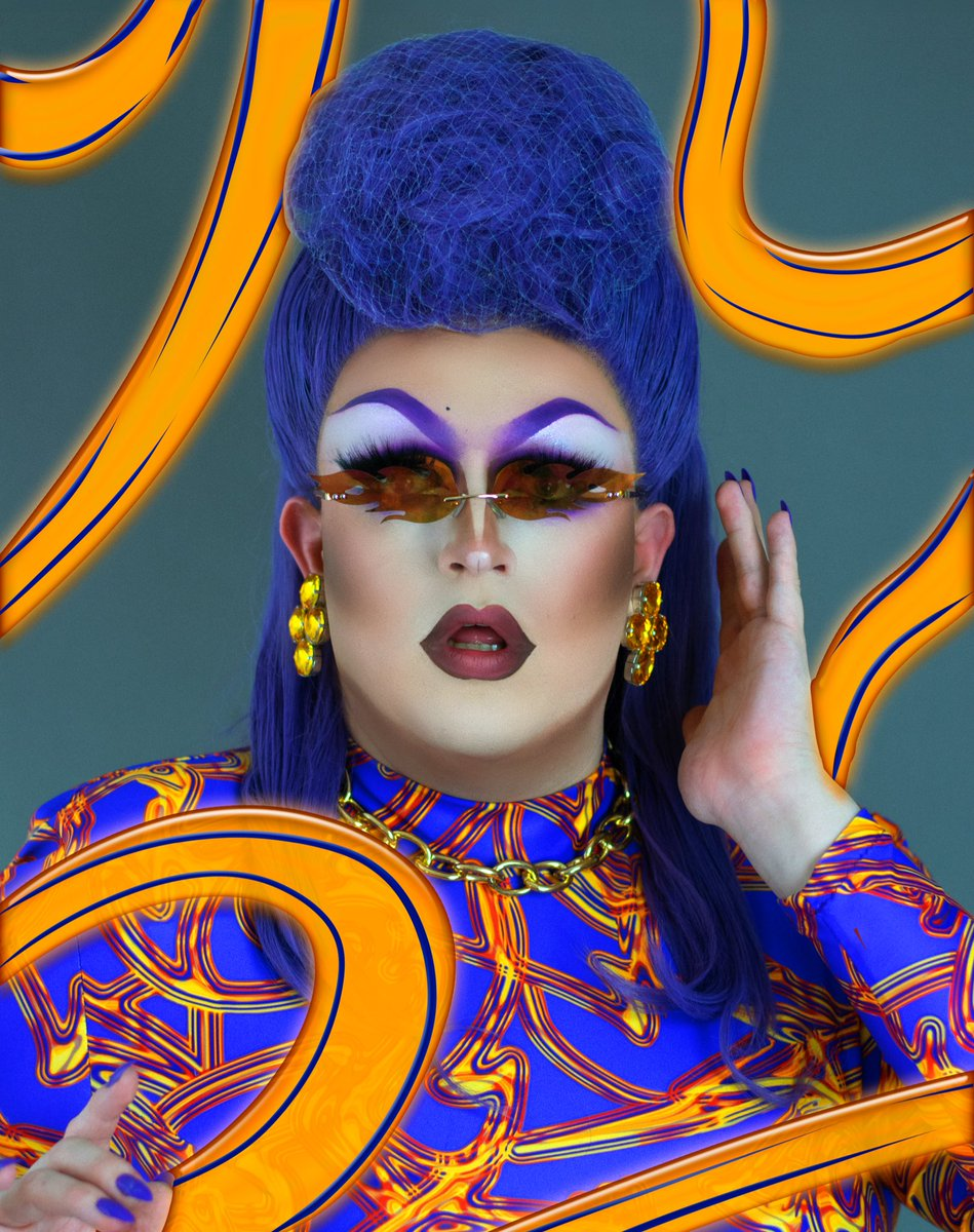 💜I'M LIKE THE LOCH NESS MONSTER- A LEGEND!💜   My entrance look for Series 2 of   @dragraceukbbc 🏁  We did it hens! #TeamChaney #DragRaceUK✨
