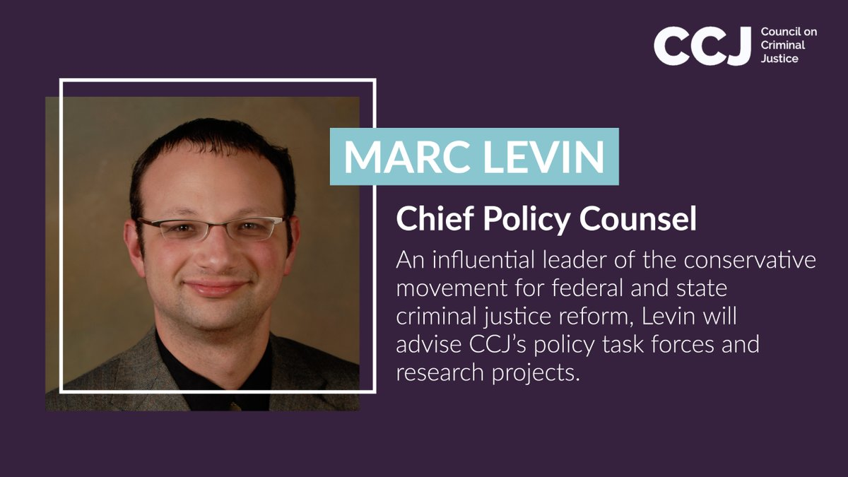 Through the Right on Crime Initiative and other pivotal efforts, @MarcALevin has for years been an influential leader of the conservative movement for federal and state #cjreform. As @CouncilonCJ's Chief Policy Counsel, he will advise policy task forces and research projects. https://t.co/kuslzKDpkP