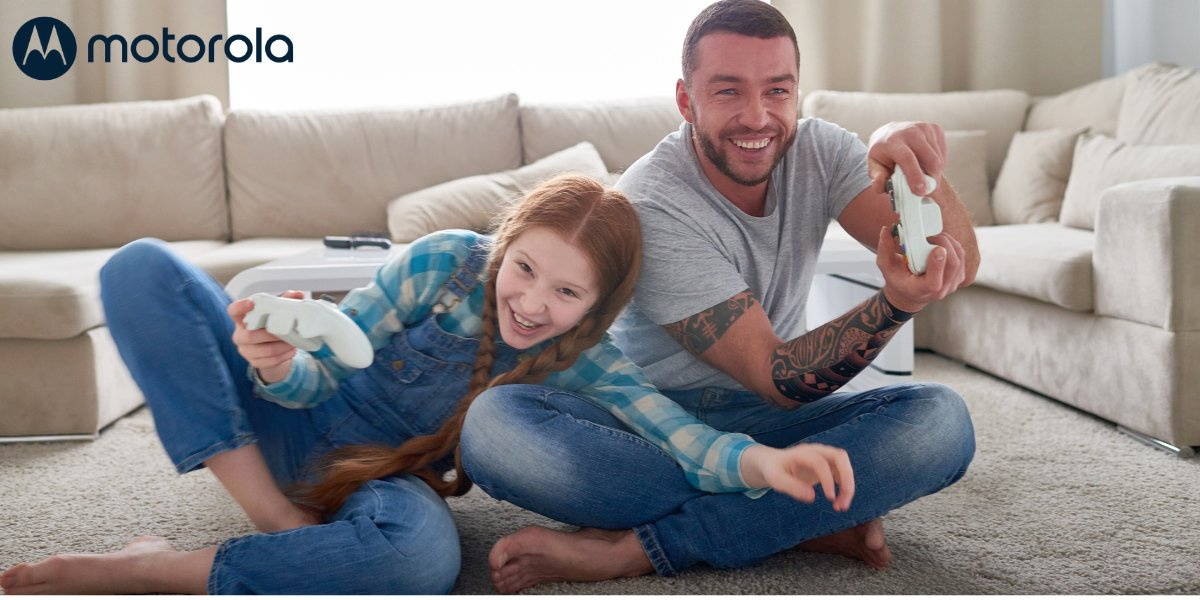🚨 Attention all gamers: Don't let #buffering stand in the way of you unlocking your next level. ⬆️ #Motorola cable modems give you the fastest response times for interactive games 🎮 #playon