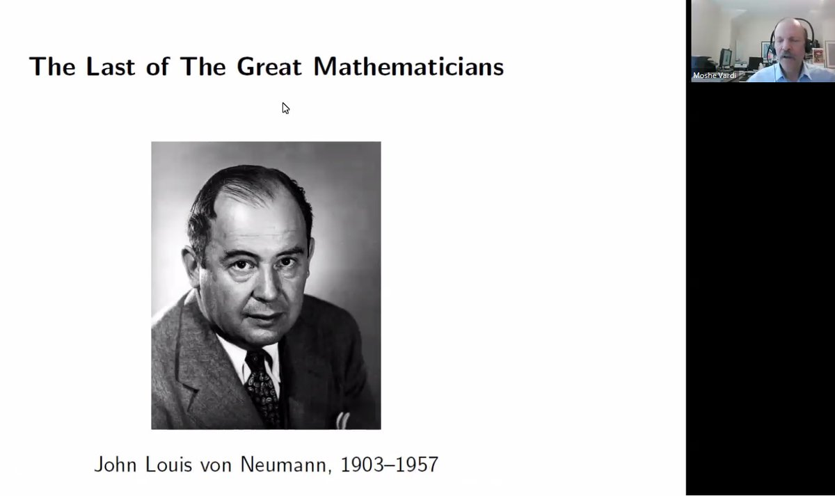 ENIAC was a product of engineers. However von Neumann actually transformed it into what we today call von Neumann computer architecture - Moshe Vardi @vardi      #WorldLogicDay #LogicDay #Mathematics #science #Logicians