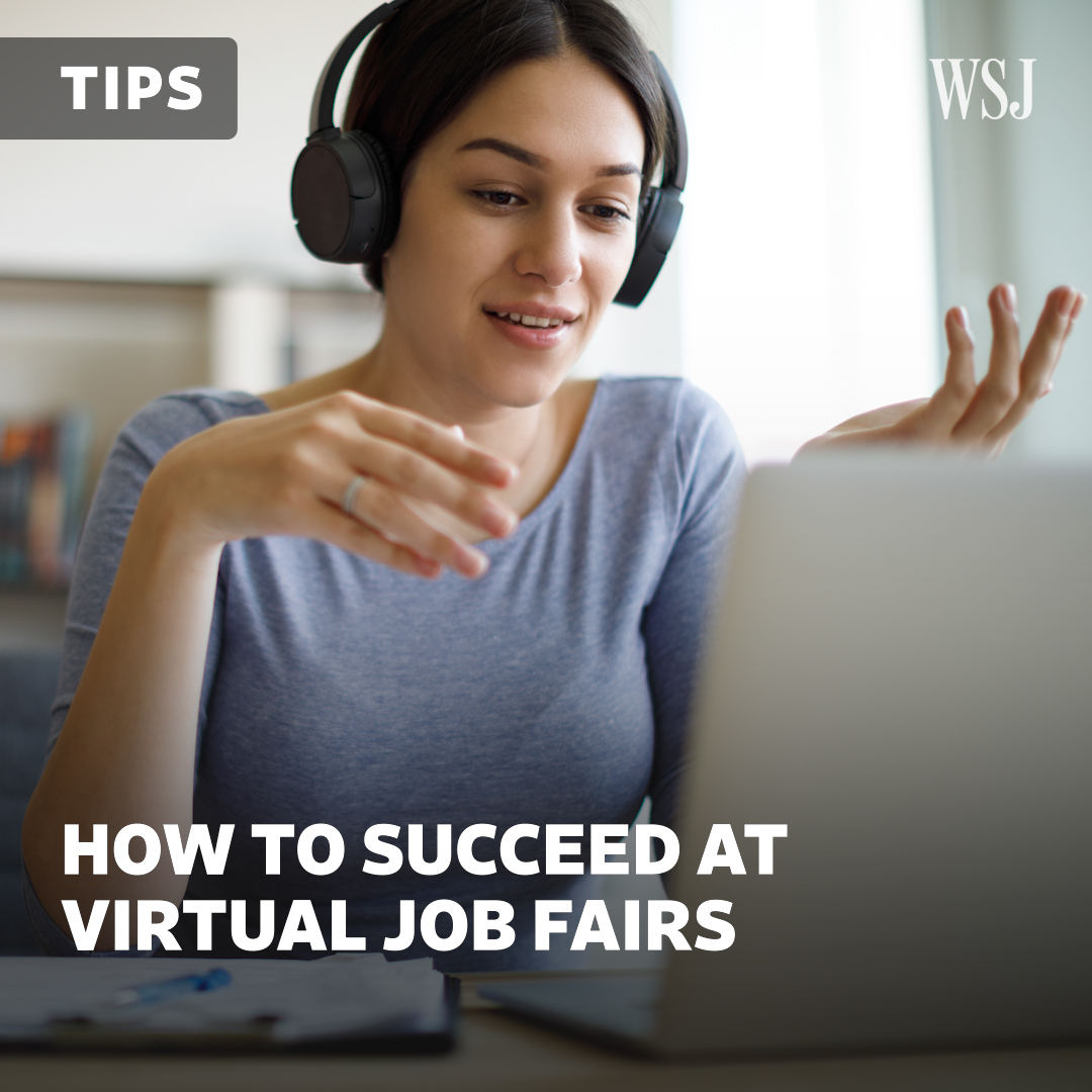 Campus career fairs have gone virtual. @KathrynDill spoke to students and career coaches about strategies for success. #WSJWhatsNow