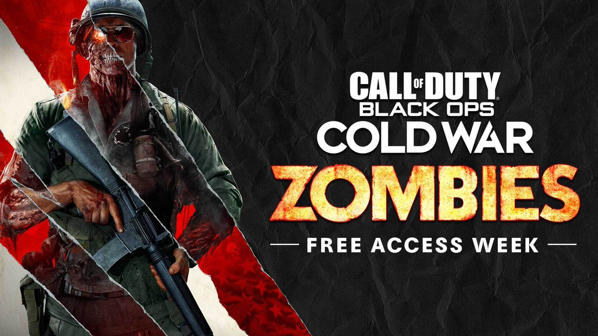Treyarch - #Zombies Free Access Week is now live through Jan. 21!  Play for free all week: