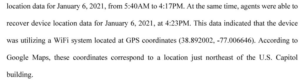 FBI agents tracking down protesters, who entered the U.S. Capitol during the unrest, from cell phone device location data (via @kylenabecker)