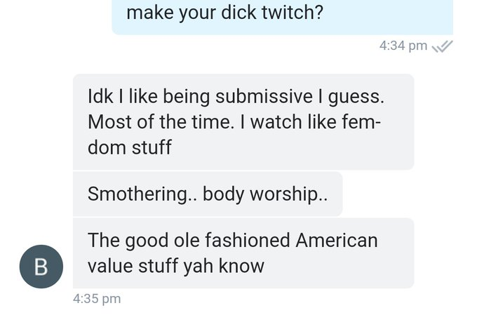 What is good ole fashioned American value femdom stuff? 🤔 https://t.co/svj1NaPfqZ