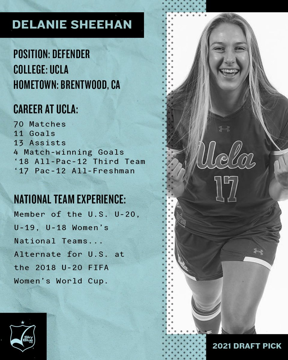 RT @SkyBlueFC: Get to know some quick facts about our NWSL Draft Pick out of @UCLAWSoccer, @DelanieSheehan! https://t.co/UyqBFTVPuq