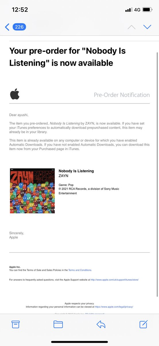 Replying to @zaynsjk: @inZAYN @zaynmalik THE ALBUM SLAPS #NobodyIsListening