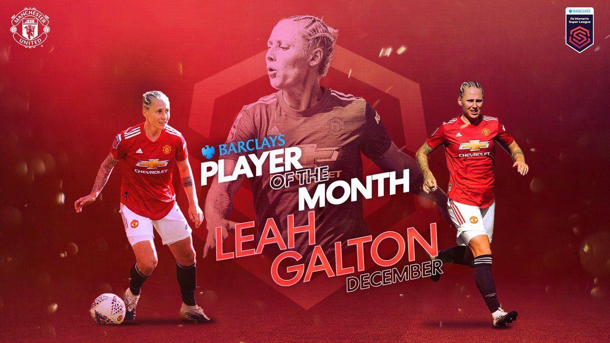Four goals in three games 👏  @leah_galton21 is your @BarclaysFooty Player of the Month for December! 👑  #BarclaysFAWSL