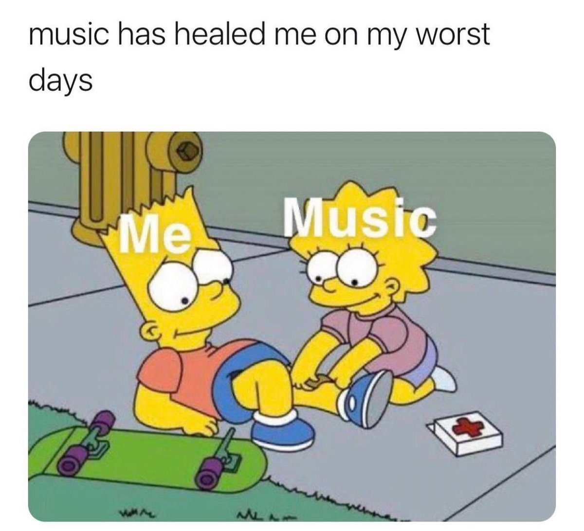 Name a song that helped you on a bad day! 👇🎶😢 https://t.co/FEF1oav2hH