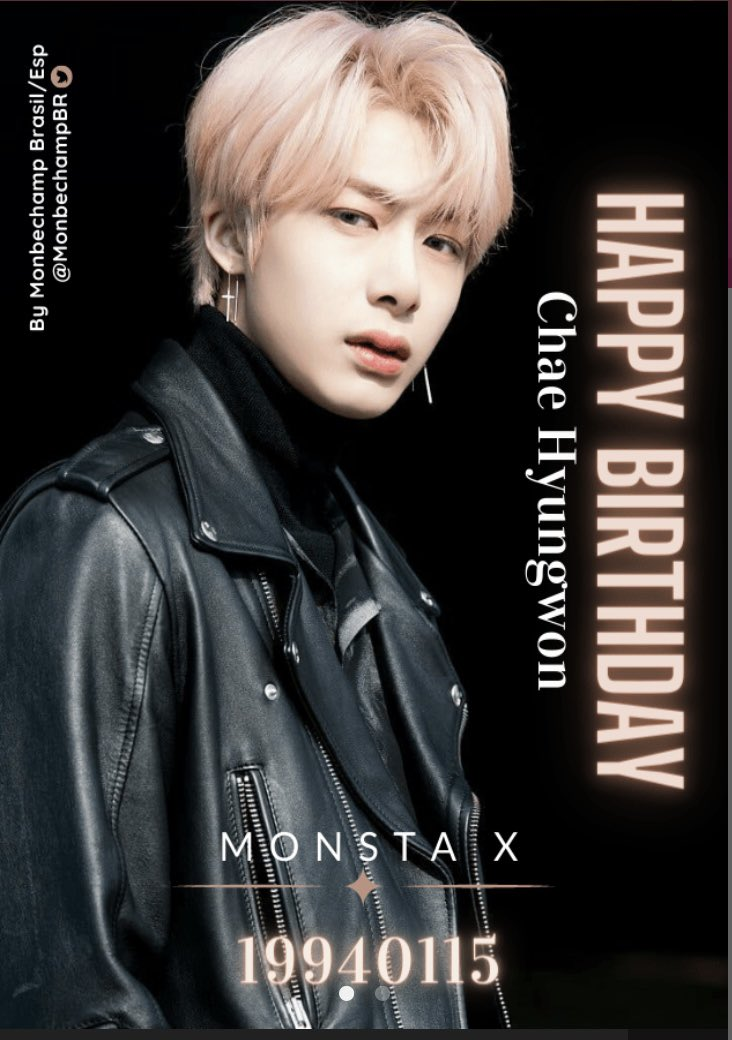 Happy Birthday Hyungwon 🎂🎉🎉🥰🥰💖💖  #HBDtoHYUNGWON  #HAPPY_HYUNGWON_DAY  #MONSTAX @OfficialMonstaX